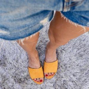 35a0a05648f2 Sam Edelman Shoes - (Sam Edelman) Liliana Slide Sandals in Yellow